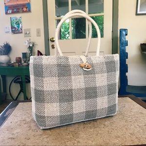 Vintage Raffia Woven Day Bag